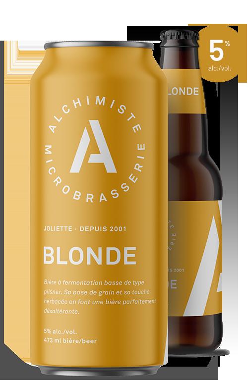 Une blonde et sa bouteille